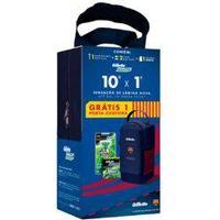 Compre Aparelho Gillette Mach3 Sensitive + 2 Cargas E Ganhe Porta Chuteira Exclusiva Barcelona