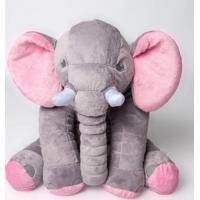 Bichos De Pelúcia Wu Para Bebês Elefante Cinza E Rosa - Kanui