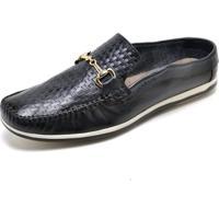 Sapato Mule Babuche Cor Azul Marinho 8003