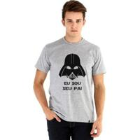 Camiseta Ouroboros Manga Curta Eu Sou Seu Pai - Masculino-Cinza