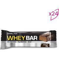 Whey Bar®- Chocolate- 24 Unidades- Probióticaprobiotica