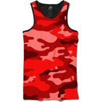 Camiseta Bsc Regata Camo Red Full Print - Masculino-Preto