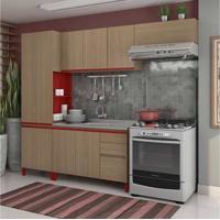Cozinha Compacta New Urban I Nature E Marsala