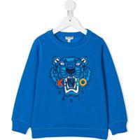 Kenzo Kids Moletom Com Patch - Azul