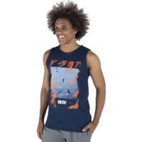 Camiseta Regata Fatal Estampada 23681 - Masculina - Azul Escuro