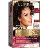 Coloração Imédia Excellence L'Oréal Paris 3 Castanho Escuro - Unissex-Incolor