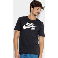 ... Camiseta Nike Sb Logo Masculina - Masculino-Preto+Branco 33687866974b8