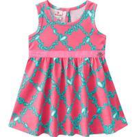 Vestido Pedras- Coral & Verde Água- Babybrandili