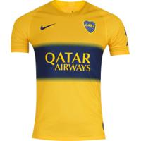 Camisa Boca Juniors Ii 19/20 Nike - Masculina - Amarelo/Azul Escuro