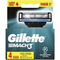 Carga Gillette Mach3 De Aparelho Para Barbear Uefa Champions League Leve 4 Pague 3 Unidades