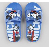 Chinelo Slide Infantil Ipanema Mickey Azul