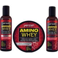 Yenzah Amino Whey Kit - Shampoo + Condicionador + Máscara Kit - Unissex-Incolor