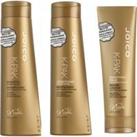 Kit Shampoo Condicionador E Defrizante Joico Kpak - Branco - Feminino - Dafiti