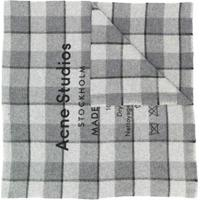 Acne Studios Echarpe Xadrez - Cinza