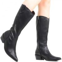 Bota Zariff Shoes Montaria Couro Western Feminina - Feminino-Preto