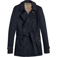 Burberry The Chelsea – Short Trench Coat - Preto