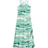 Vestido Feminino Longo Estampado Verde