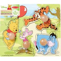 Quebra-Cabeça - Peças De Encaixe De Madeira - Disney - Pooh - New Toys
