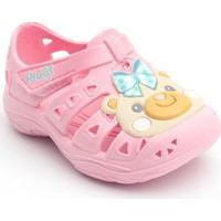 Babuche Bebê Ursinha Plugt Feminino - Feminino-Rosa