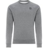 Blusa Masculina Moletom Ua Rival Fleece Crew - Cinza