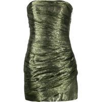 Dsquared2 Vestido Tomara Que Caia Metalizado - Verde