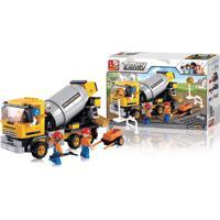Blocos De Montar Multikids Construção Caminhão Betoneira 296 Peças