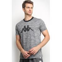 Camiseta Kappa Dritto Masculina - Masculino-Chumbo