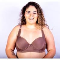 Sutiã Bojo Plus Size Gatria Reforçado Feminino - Feminino-Marrom