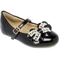 Sapato Boneca Com Laço Frontal - Preta- Luluzinhaluluzinha