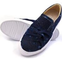 Sapatenis Click Calcados Tecido Jeans Feminino - Feminino