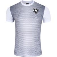 Camiseta Do Botafogo Gradient 19 - Masculina - Branco/Preto