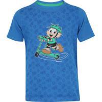 Camiseta Oxer Cebolinha - Infantil - Azul