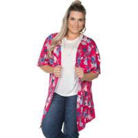Kimono Cobertura Plus Pink