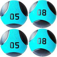 Kit 4 Medicine Ball Liveup Pro 5 E 8 Kg Bola De Peso Treino Funcional - Unissex