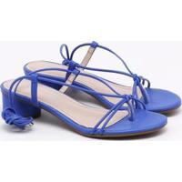 Sandália Via Marte Amarração - Feminino-Azul Royal