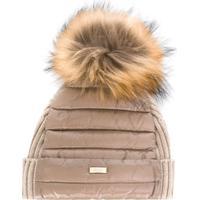 Herno Kids Fur-Trimmed Feather Down Hat - Neutro