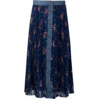 Philosophy Floral-Print Pleated Skirt - Azul