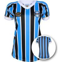 Netshoes  Camisa Umbro Grêmio I 18 19 S N° Torcedor Feminina - Feminino 53ec4eb03b902