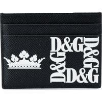 Dolce & Gabbana Porta-Cartões Com Estampa De Logo - Preto