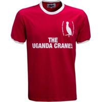 Camisa Liga Retrô Uganda 1980´S - Masculino-Vermelho