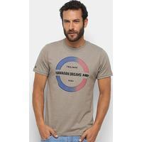 Camiseta Hd Gradient Estampada Masculina - Masculino-Bege