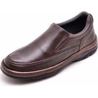 Sapato Conforto D&R Masculino - Masculino-Café