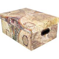 Caixa Organizadora Vintage- Bege Claro & Amarela- 20Boxmania