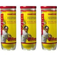 Bola De Tenis Wilson Championship - Pack 09 Bolas - 03 Tubos - Unissex