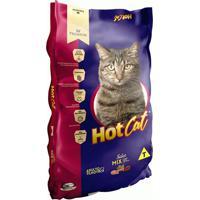 Ração Para Gatos Hotcat Mix Adulto E Filhotes Sabor Peixe, Carne E Vegetais 10,1Kg