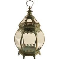 Lanterna Decorativa De Metal Envelhecido Smara Grande