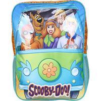 Mochila Escolar Infantil Xeryus 16 Scooby-Doo Mystery Machine - Feminino-Azul+Laranja