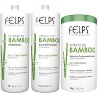 Kit Bamboo Felps Shampoo 1L+Condicioandor 1L+Mascara 1Kg