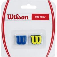 Antivibrador Wilson Pro Feel - Azul/Amarelo