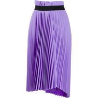 Balenciaga Pleated Elasticated Skirt - Roxo
